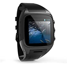 SODIAL(R) X01 4GB Smart Watch Phone Android 4. 4 OS Dual Core 2G GSM 3G WCDMA 2100MHz Sports Pedometer Heart Rate Monitor GPS WIFI IP67 Waterproof (Orange)