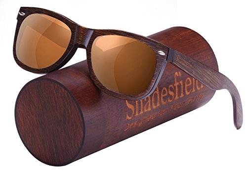 Shadesfield Wayfarer Wood Sunglasses with Polarized Lenses for Men or Women - 100% UV Protection. - Of Different Types Sunglasses Wayfarer