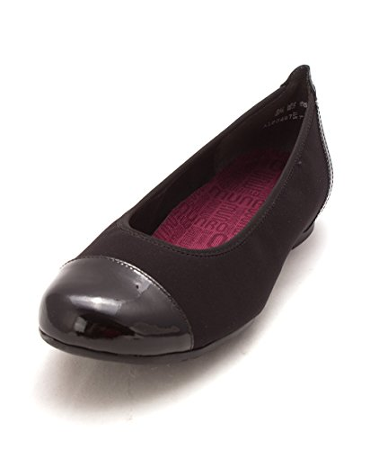 Fabric Cap Flats Toe Womens Black Henlee Ballet Munro vqxwEBga