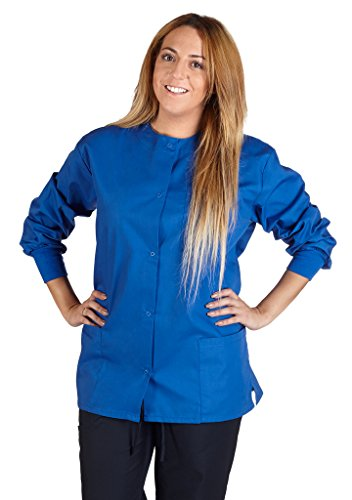 (Natural Uniforms Women's Warm Up Jacket (True Royal Blue) (Medium) (Plus Sizes Available))