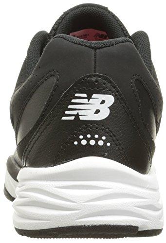 Balance Turnschuhe Leder Weiß Breit WX824 New Schwarz SwT0q0d