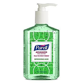 Purell Advanced Hand Sanitizer With Aloe Decorative Collection - Hand Sanitizer Gel 8 Fl Oz Table Top Pump Bottle (Pack Of 4) - 9674-06-ecdeco 2