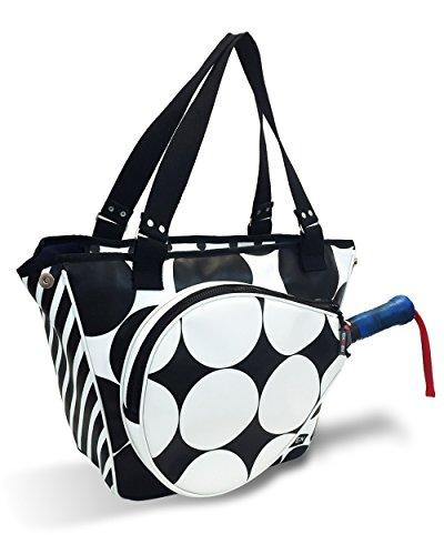IDAWEN Sport Fashion Bolso de Padel Mujer Lunares. Paletero con ...