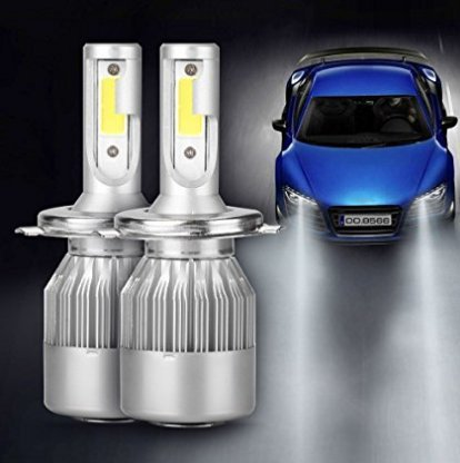 AGM LED C6 H4 Luces Delanteras del Coche, 36W Alta Potencia LED COB Bombillas para