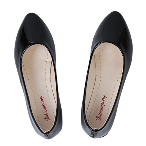 Scarpe Basse Donna - Toogoo (r) Scarpe Da Donna Balletto Flat Ballet Baller Casual Slip On Pumps Shoes Nero 37