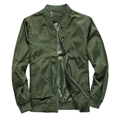 Baseball Beeatree Militare Cardi Salone Verde Di Ma Uomini Bomber Giacca Solido 1 Cappotto Autunno xqwqF60Rr