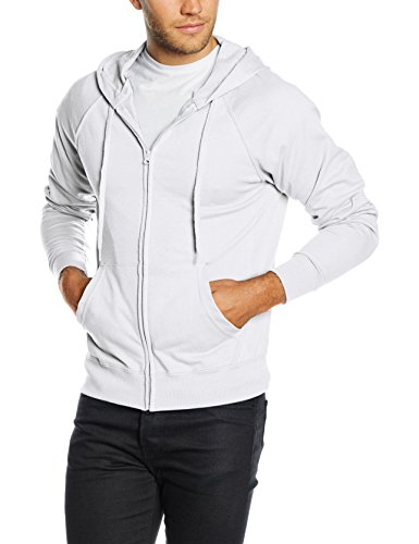 Fruit of the Loom Men Zip front Lightweight Hooded Sweat