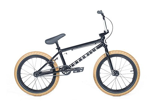 "Cult Juvenile 18"" Black/Chrome/Gum Complete BMX Bike 2018"