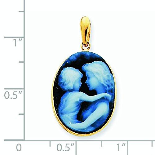 14 carats Cœur avec pendentif en Agate-JewelryWeb
