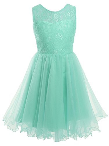 FAIRY COUPLE Girl's Lace Embroidered Bodice Flower Girl Party Dress K0191 10 Mint by FAIRY COUPLE