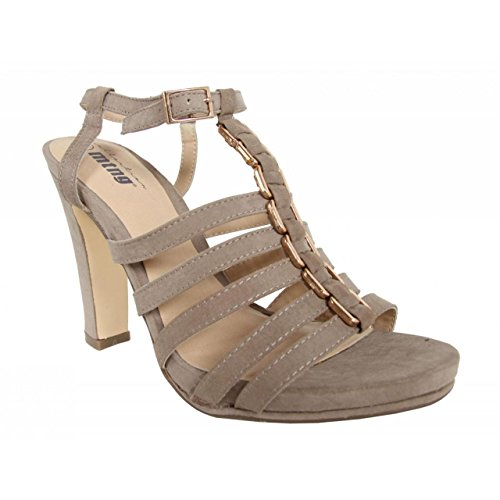 GIJON Taupe Schuhe MTNG 58007 für Ferse Damen SpFq70w