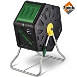 Miracle-Gro Single Chamber Outdoor Garden Compost Bin - Large Volume, Compact Design 27.7gal (105L) Capacity - Heavy Duty, Easy to Assemble Tumbling Composter + Free Scotts Gardening Gloves