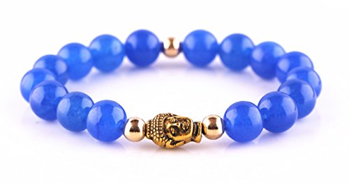 MBOX Brand Fashion Stylish Exotic Bead Handmade Bracelet Collection (Blue Agate 01)