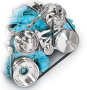March Performance 13105 Serpentine Conversion Kit for Pontiac V8 Engine
