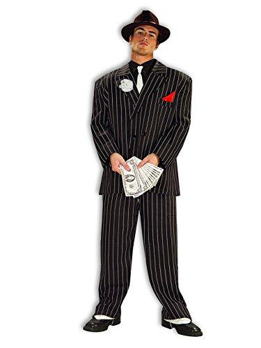 Forum Novelties Roaring 20's Chicago Gangster Costume, Black, Standard -