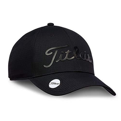 Titleist Performance Adjustable Ball Marker Hat 2019 (Black/Black) Ball Marker Adjustable Hat