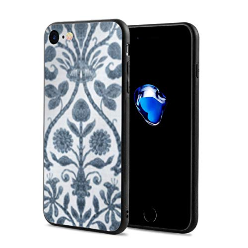 iPhone 7 Case/iPhone 8 Case, Provence Toile in Blue and White Slim-Fit Ultra-Thin Shockproof Skid Proof Anti Fingerprint Lightweight Protective Case Compatible for iPhone 7/8 ()