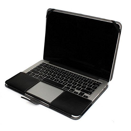 Litop Black Business Smart Holster PU Leather Case Cover Bag Sleeve for All Macbook Air 13'' inch