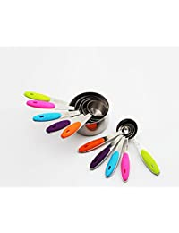 Bargain 10 Piece Professional Grade Stainless Steel Measuring Cups and Spoons Set with Soft Silicone Handles for Easy... offer