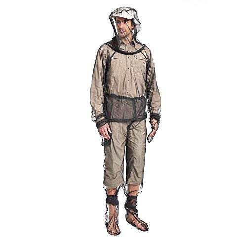 Lightweight Mesh Suit - Lixada Mosquito Suit,Repellent Bug Jacket Mesh Hooded Suits Unisex Ultra-fine Mesh Insect Protective for Fishing Hiking Camping Gardening