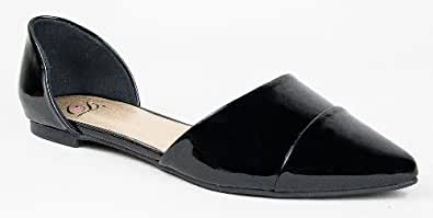 Breckelle's DOLLEY-03 / Qupid POINTER-15X / Delicious NOKU Designer Inspired Pointy Toe d'Orsay Flat