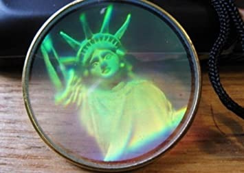 Real 3d hologram holograph pendant laser holographic hologram real 3d hologram holograph pendant laser holographic hologram image statue of liberty usa necklace mozeypictures Image collections