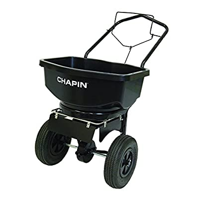 Chapin International 80079B 80 lb Capacity Residential Salt/Ice Melt Spreader with Extreme Auger, Black
