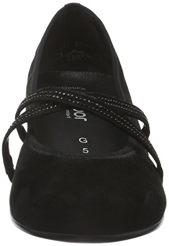 Gabor Shoes Comfort Basic, Zapatos de Tacón para Mujer Negro (schwarz 47)