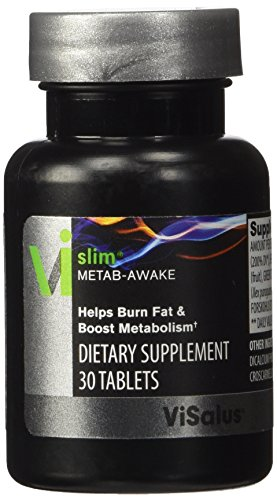 ViSalus Vi-Slim Metab-Awake Herbal Thermogenic Fat Burner & Metabolism Booster for Weight Loss with Chromium, Green Tea Extract, Cocoa Extract, Forskholii Extract, Yerba Mate, Evodiamine Extract