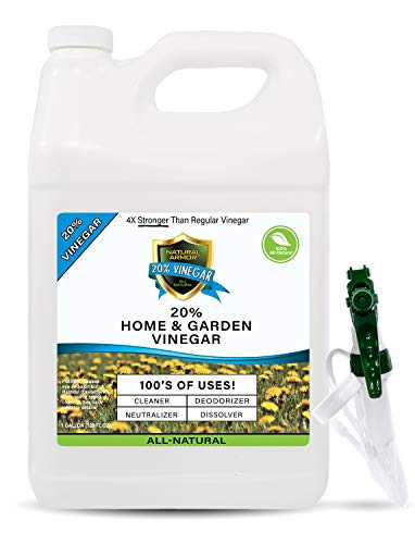20% Vinegar PURE NATURAL & SAFE INDUSTRIAL STRENGTH CONCENTRATE for Home & Garden & Literally Hundreds Of Other Uses (1-128 OZ GALLON) 4X Stronger Than Regular Vinegar from Natural Armor