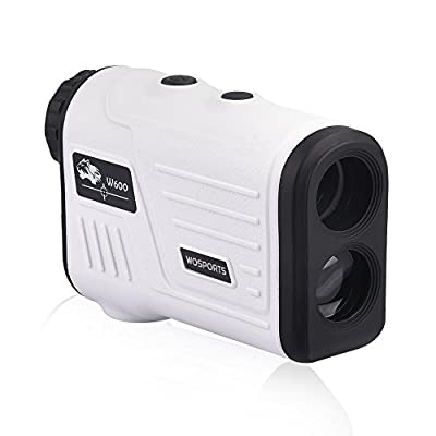 WOSPORTS Golf Rangefinder, Laser Range Finder with Slope, Golf Trajectory Mode, Flag-Lock and Distance/Speed/Angle Measurement - Golf Scope from Wosports