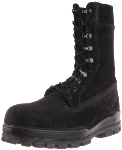 Bates Men's 9 Inches Suede Durashocks Steel Toe Work Boot,Black,11.5 EW US (Bates Steel Hook)