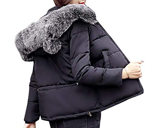 Thick Jacket Jacket Boyfriend Down Women Black Cotton Mini Short Howme Winter tqxazBwnA