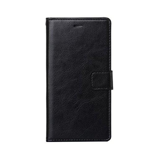 iPhone8 ケース 手帳型 全面保護 耐衝撃 薄型 軽量 マグネット カード収納 スマホケース 高級PUレザー スタンド機能付き ワイヤレス充電対応 (iPhone8, ブラック)