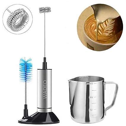 Elektrische Milchschäumer Milchaufschäumer Milch Schläger Edelstahl Kaffee Mixer