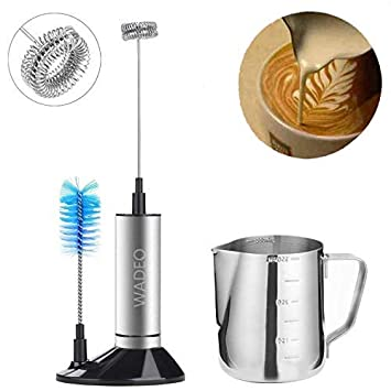 H-Min Electric Foam Maker with Stainless Steel Whisk Include 3 ...
