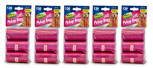 OdoBan Pet Solutions Dog Waste Pickup Bags, 5 Pack, 120 Count Each
