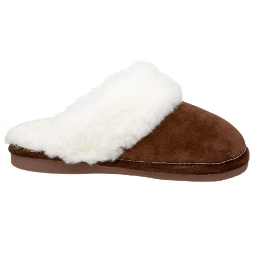 Dark Slipper Friend Brown Old Women's Scuff 441169 Sheepskin nq7dwY1Xw