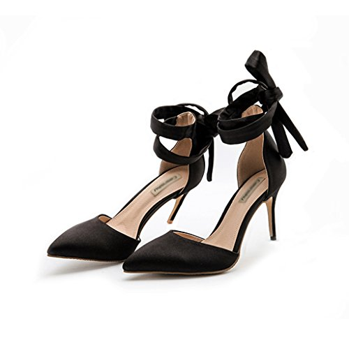 Sandali color Black8cm Scarpe A Spillo Fang Alto Tacchi Selvatici Cheng Con Senza Estiva Tacco Di 38 Sposa Donna Electronic Seta Raso Black10cm Nude Business In Chi Intestazione Size Da Multa g4Z5qCSS