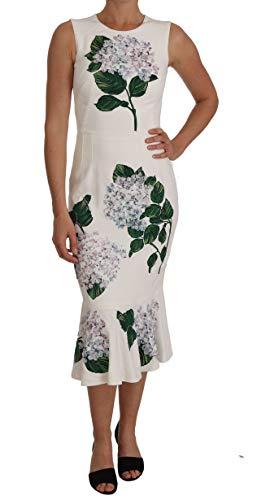 Dolce & Gabbana White Stretch Ortensia Sheath Dress