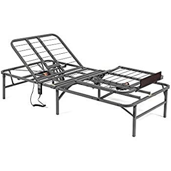 this item pragma bed pragmatic adjustable bed frame head and foot twin gray