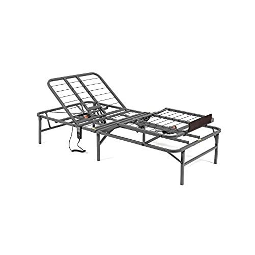 pragma bed pragmatic adjustable bed frame head and foot twin x large gray - Electric Adjustable Bed Frame