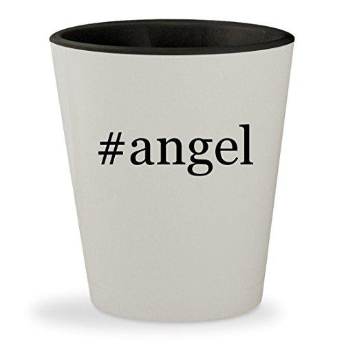 #angel - Hashtag White Outer & Black Inner Ceramic 1.5oz Shot Glass