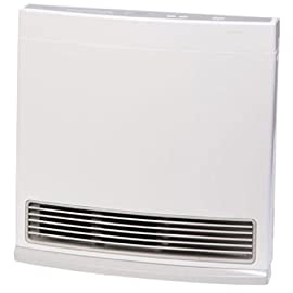 Rinnai FC510 Vent-Free Space Heater, White 4 Rinnai FC510P Vent-Free Space Heater - Propane Input range 5,600 to 10,000 BTU/hr Ideal supplemental heating solution for room additions, basements, and sunrooms