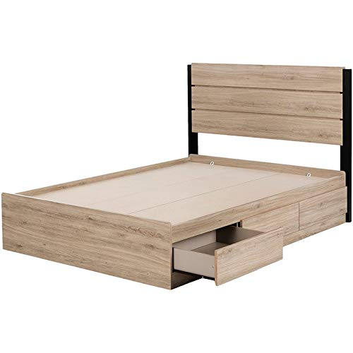 - South Shore 12206 Induzy, Full, Bed Set-Bed and Headboard