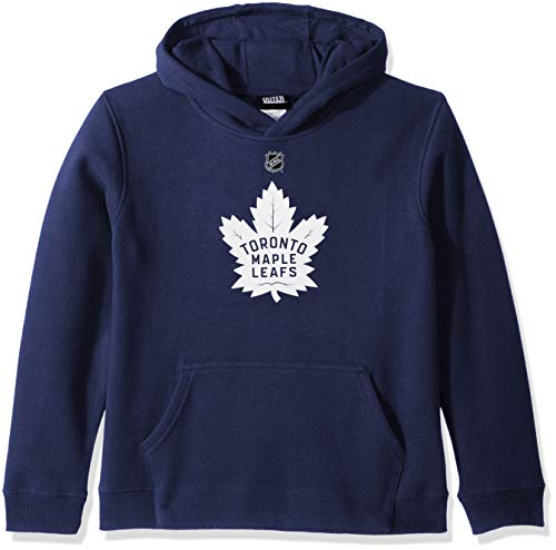 Outerstuff NHL NHL Toronto Maple Leafs Youth Boys Primary Logo Fleece Hoodie, Leafs Blue, Youth Large(14-16) (Toronto Maple Leafs Primary)