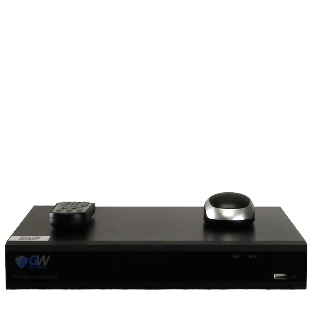 No HDD Included, 2X HDD Bay, up to 20TB Total Compatible with 8MP // 5MP //4MP 1080P Realtime ONVIF IP Cameras NVR Network Video Recorder GW Security 8 Channel H.265 4K 8CH PoE Ports 3840x2160p