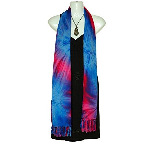 color extra Choice de Tie para mundo Pink grande Efecto mujeres Sarongs 1 Bufanda Dye en Your tCw70H