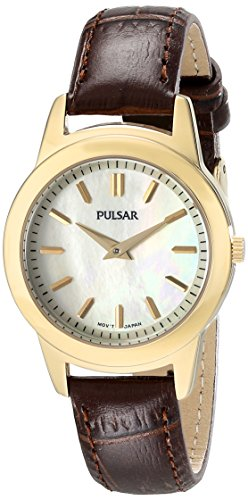 Pulsar Women's PRW014 Analog Display Analog Quartz Brown Watch