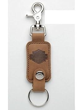 Llavero de piel marrón original para Harley-Davidson ...